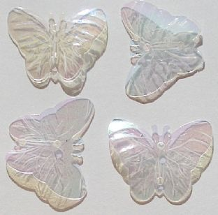 DISCONTINUED 22mm Clear Iridescent Butterfly Sequins x 150